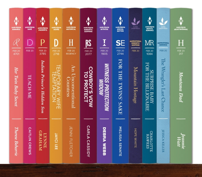 Harlequin Series Spine Showcase